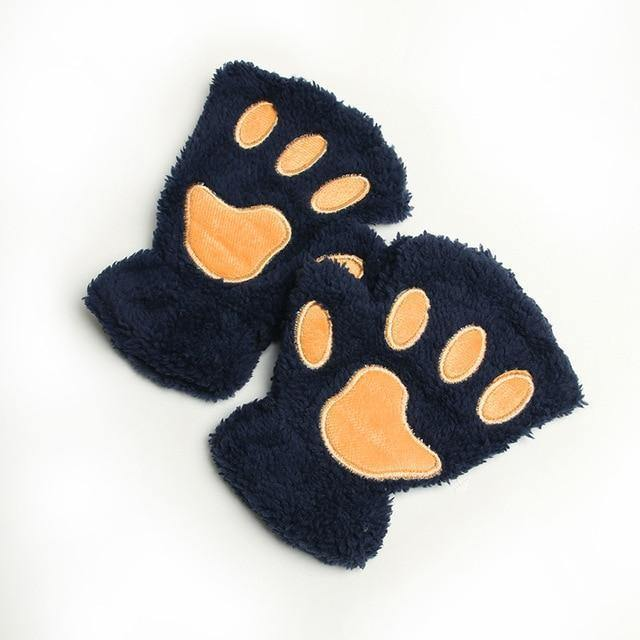 Fluffy Animal Paw Gloves - Everlyfave