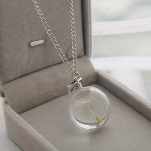 The Dandelion Wish Crystal Necklace - Everlyfave