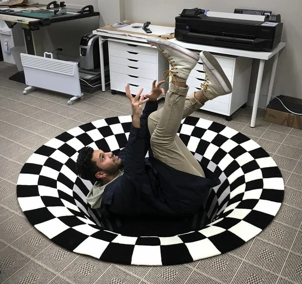 Vortex Illusion Rug - Imoost