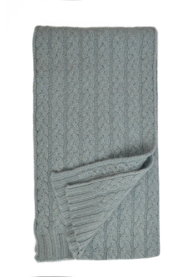 William Lockie Cashmere Cable Scarf