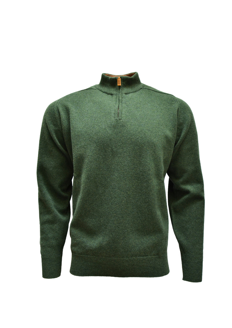 William Lockie Lambswool Pullover Turtle Neck Zip
