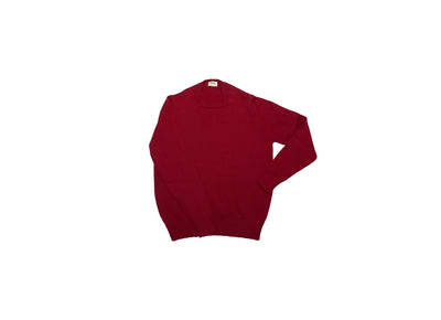 Pure Merino Wool Red Crewneck