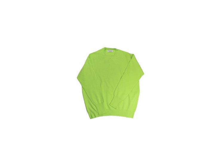 Super Geelong Lambswool LimeJuice Crewneck