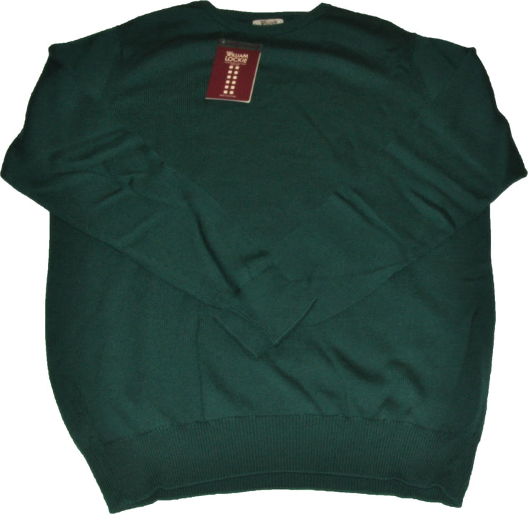 Extrafine Merino Wool Green Crewneck