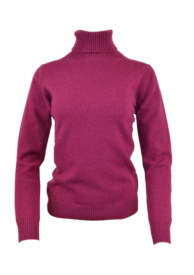 William Lockie Luisa Roll Collar Sweater in Rosehip