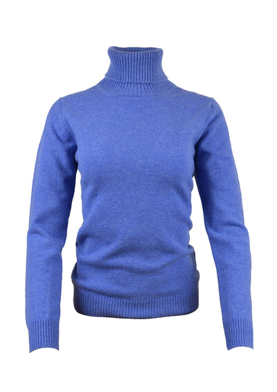 William Lockie Luisa Roll Collar Sweater in Surf