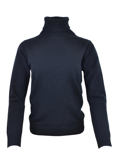 William Lockie Luisa Roll Collar Sweater in Black
