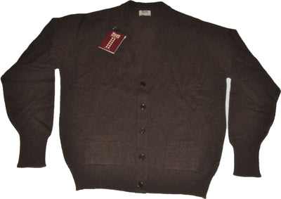 100% Lambswool Brown Cardigan