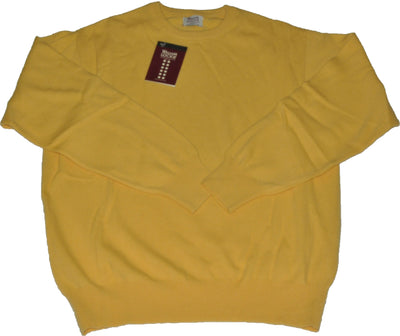 100% Lambswool Canary Crewneck