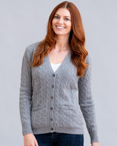 William Lockie Candice Cardigan in Cashmere