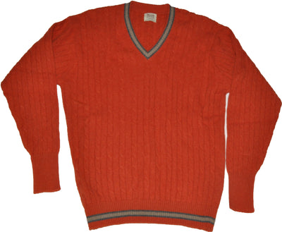 Super Geelong Lambswool Furnace V Neck