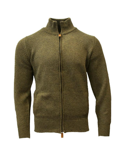 William Lockie Lambswool Zip Turtle Neck Bomber Jacket