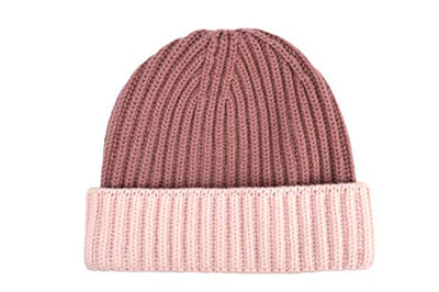 William Lockie Cashmere Lam Beanie Hat in Cherry Blossom/Shawl