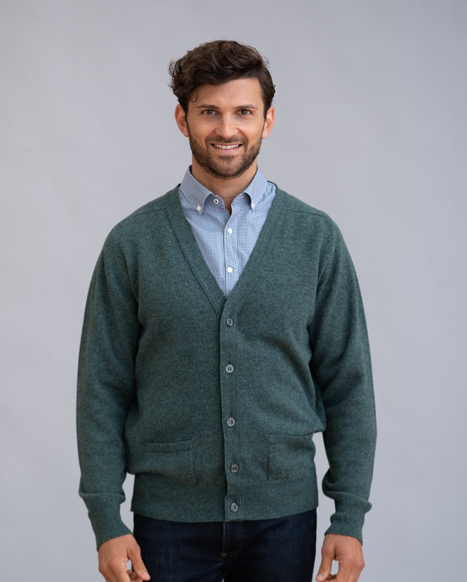 William Lockie Leven Cardigan in Lamsbwool