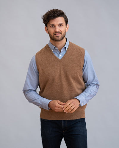William Lockie Leven Slipover Sweater in Lambswool