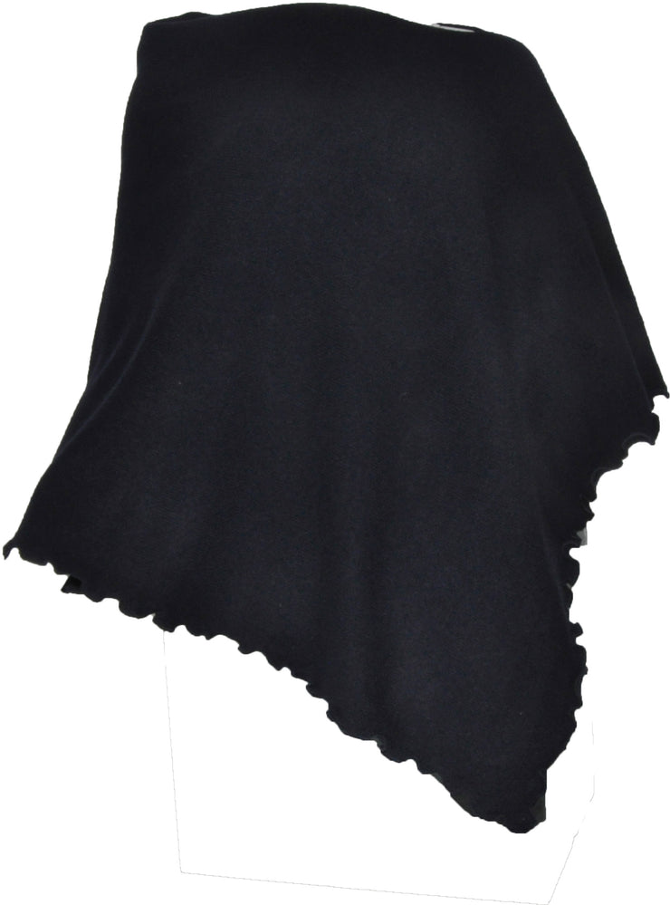 William Lockie Ruffled Poncho in Lambswool