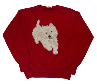 100% Cashmere Regal Red Round neck pullover