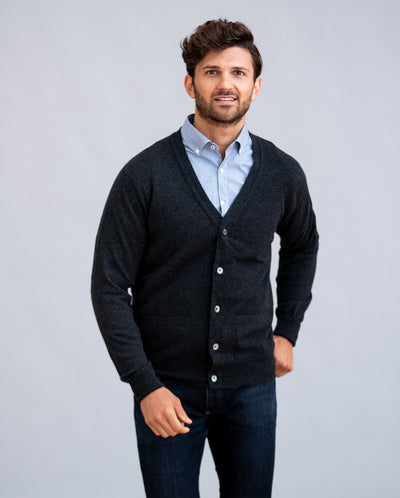 William Lockie Oxton Cardigan in Cashmere