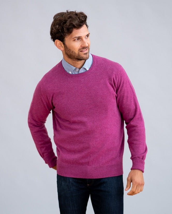 William Lockie Oxton Crew Neck Sweater in Cashmere