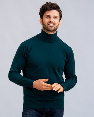 William Lockie Oxton Roll Collar Sweater in Cashmere