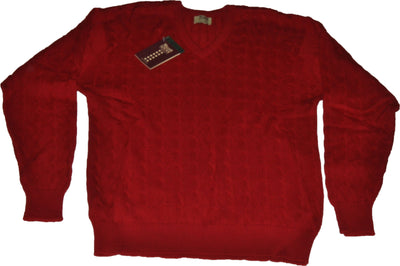 Pure Merino Red V Neck
