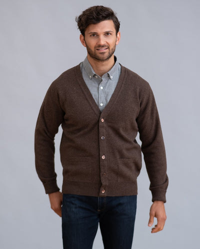 William Lockie Rob Cardigan in Lambswool