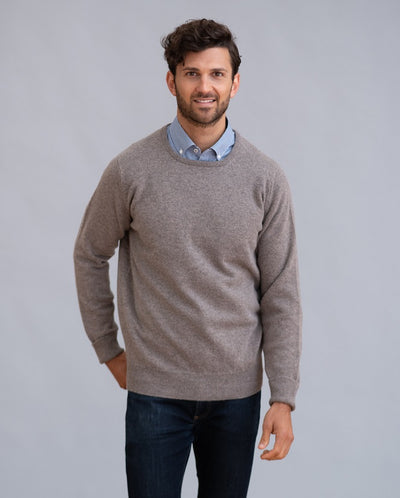 William Lockie Rob Crew Neck in Lambswool