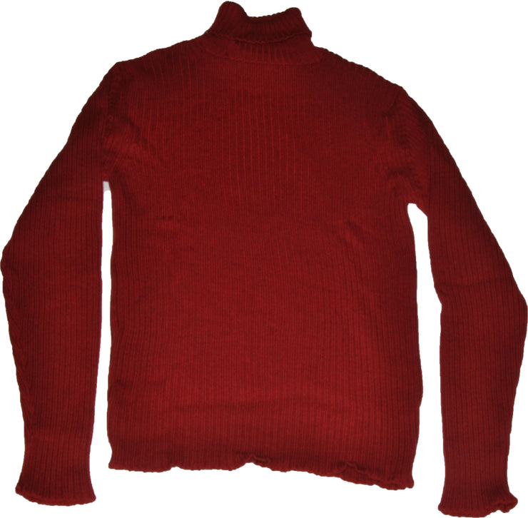 Extrafine Merino Wool Rosso Poloneck