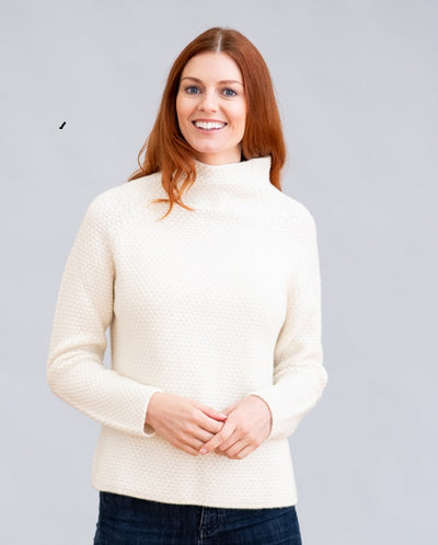 William Lockie Seed Funnel Neck Sweater in Cashmere