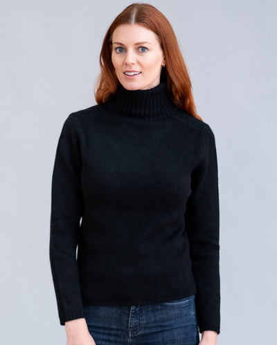 William Lockie Zola Roll Collar Sweater in Cashmere