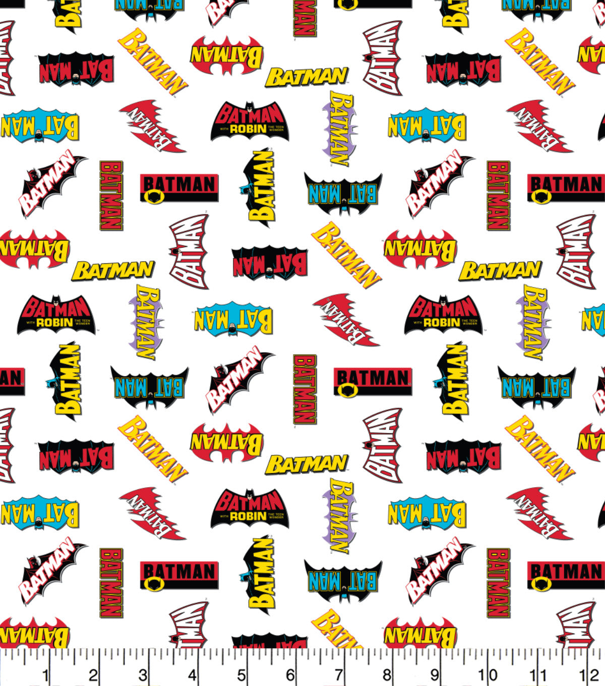 Batman & Robin logos 100% Cotton Fabric Per 1/2 Metre 112cm Wide