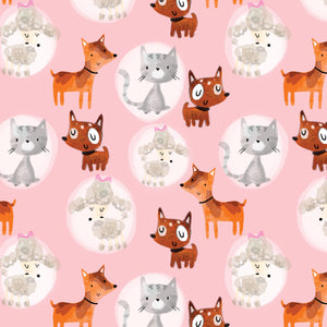 Girls Day out Dog design 100% Cotton Fabric Sold Per Half Metre, 112cm wide