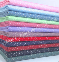 Tiny Star Fabrics 100% Cotton Poplin Per 1/2 Metre, 112cm wide, 12 Colours