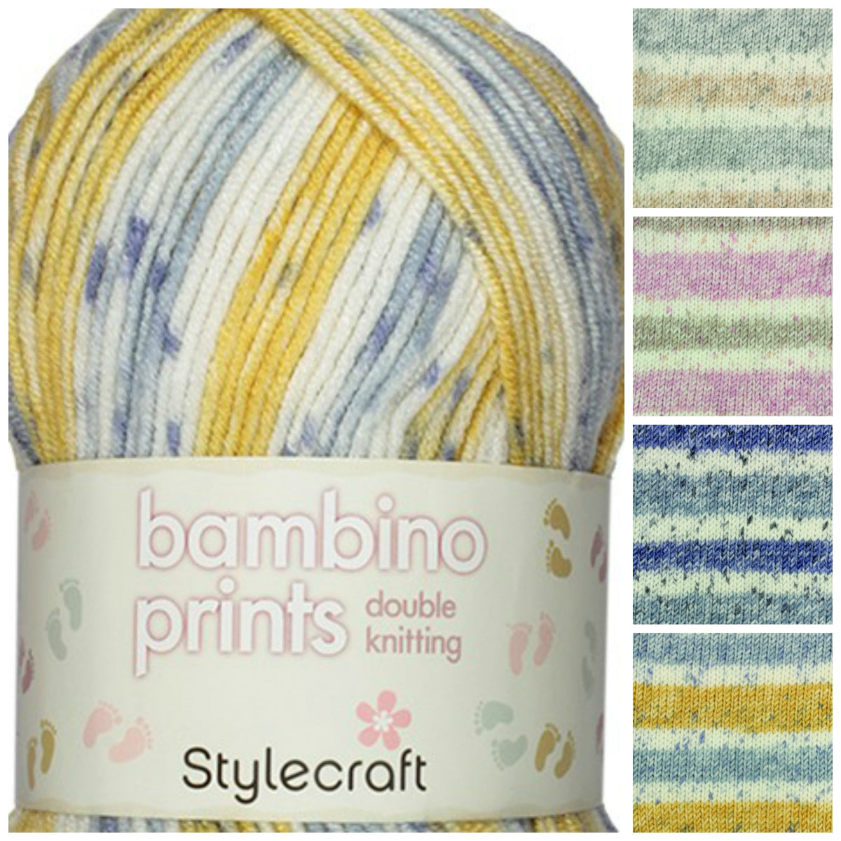 Stylecraft Bambino Prints Double knit yarn, 100% Acrylic, 100 grams