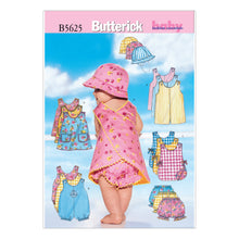 Butterick infants romper, jumper, panties & hat sewing pattern