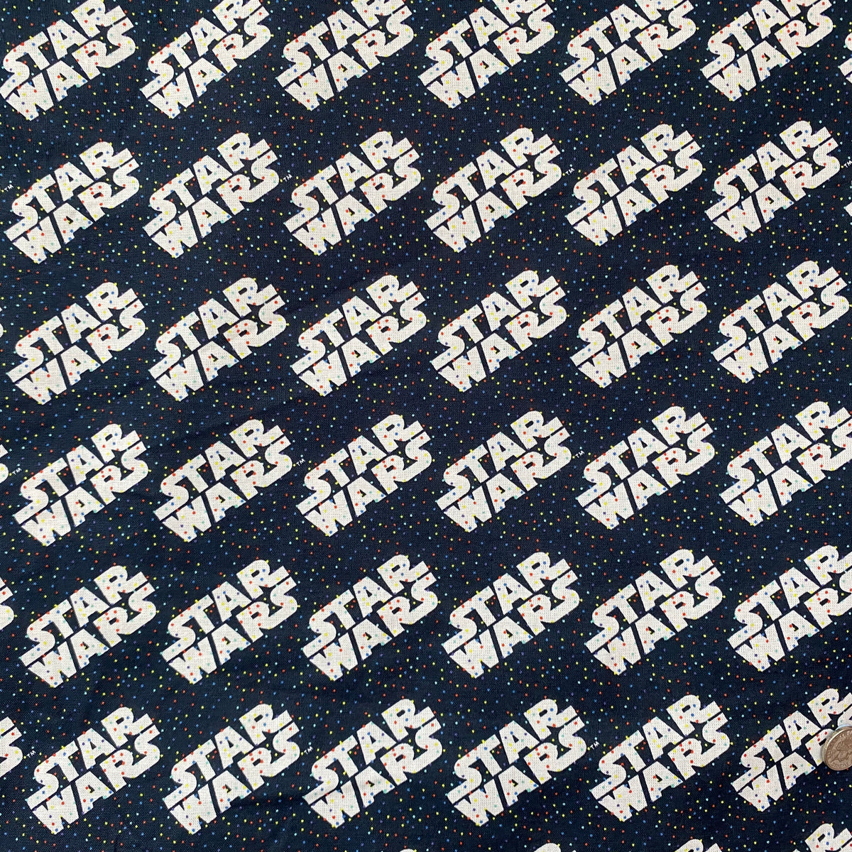 STAR WARS logo & tiny dots 100% Cotton Fabric sold per Half Metre ~