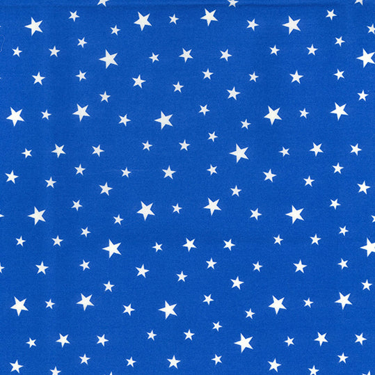 Royal blue Mini Star fabric , 100% cotton poplin fabric by the half metre, 112cm wide