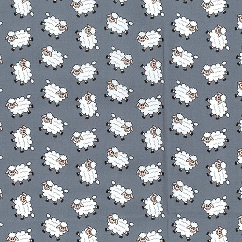 Woolly Sheep grey 100% Cotton poplin Fabric sold per Half Metre 112cm wide