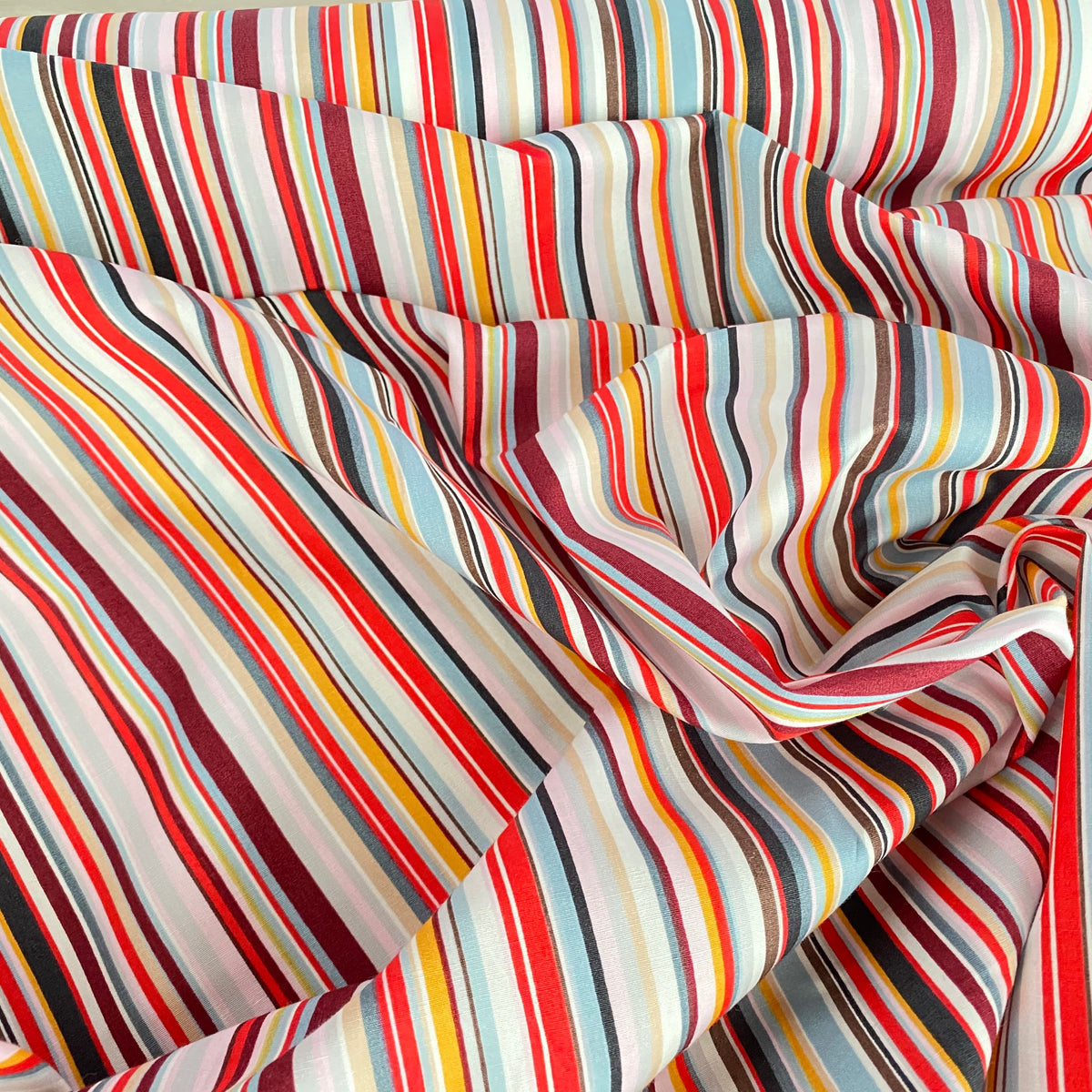 Funky striped  100% Cotton Fabric,  black, grey & pink sold per half metre, 112cm wide