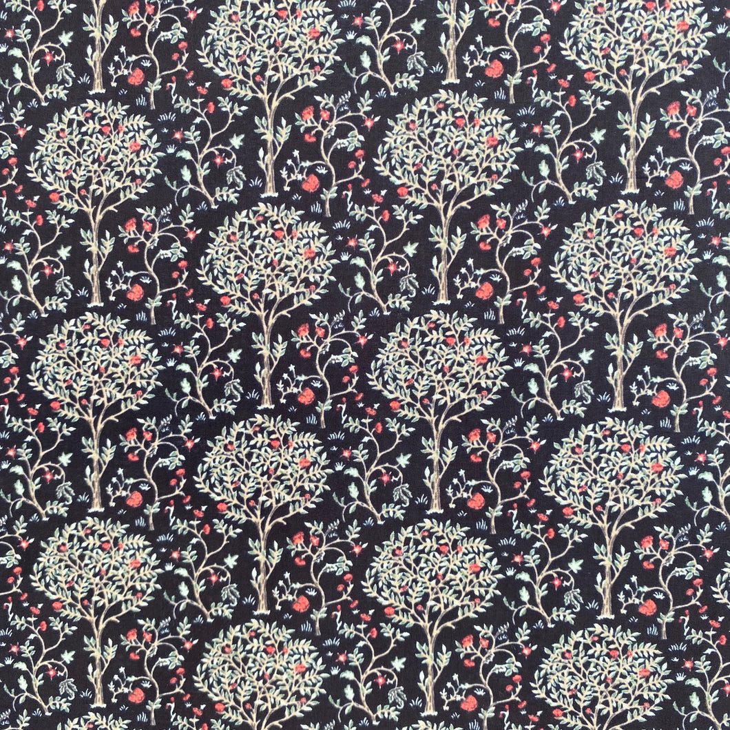 Black Mulberry Tree  100% cotton lawn  fabric sold per half metre 54