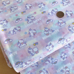 Hello Kitty Candy Floss 100% Cotton Fabric 58 Inches Wide (140cm) Sold Per 1/2 Metre