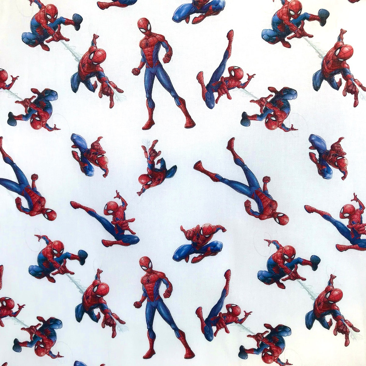Marvel Spiderman 100% Cotton Fabric 58 Inches Wide (140cm) Sold Per 1/2 Metre