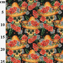 Mexican Day of the dead design Halloween 100% Cotton Fabric, 60 inches wide (150cm) sold per  Half  Metre ~