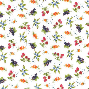 Hedgerow berries 100% Cotton Fabric, 58 inches wide (140cm) sold per  Half  Metre ~