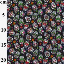 Mini sugar skulls 100% Cotton Fabric, 58 inches wide (140cm) sold per  Half  Metre ~