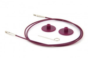 KnitPro Interchangeable Circular Knitting Needle Cables - Purple Plastic - 80cm