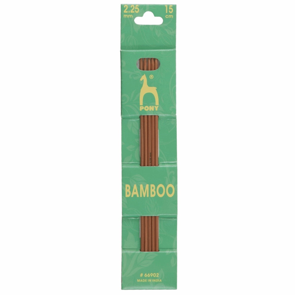 Pony Bamboo 15cm 2.25mm Double Ended Knitting Pins.  Set of 5