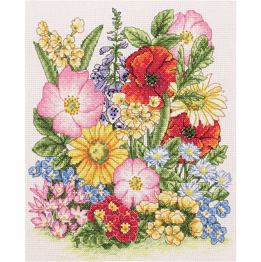Anchor Meadow Flowers Counted Cross Stitch Kit