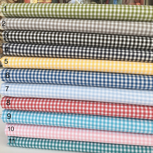 """Yarn Dyed 100/% cotton gingham 144 cm wide 56/"""" sold per half metre"""