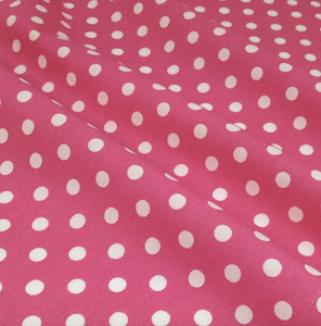 Spots 100% Cotton Poplin Fabric sold Per 1/2 Metre 12 Colours